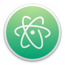 Run desktop app Atom online
