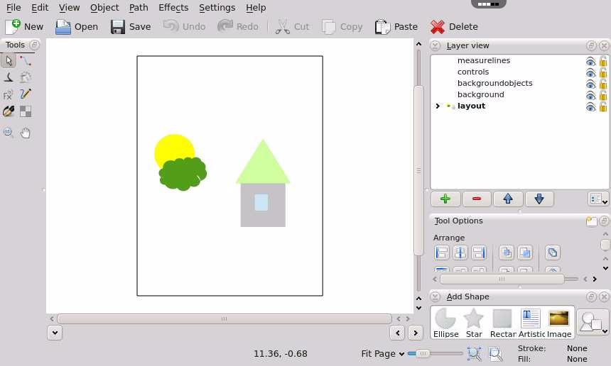 Calligra Karbon Online Vector Drawing App Rollapp
