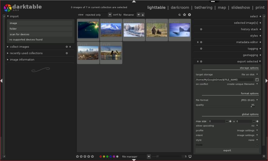 Darktable Online - Photography App – rollApp