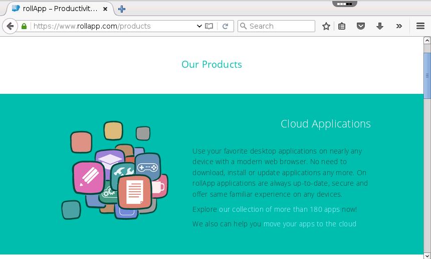 Firefox Online – rollApp