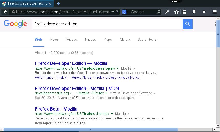 Firefox Developer Edition Online – rollApp