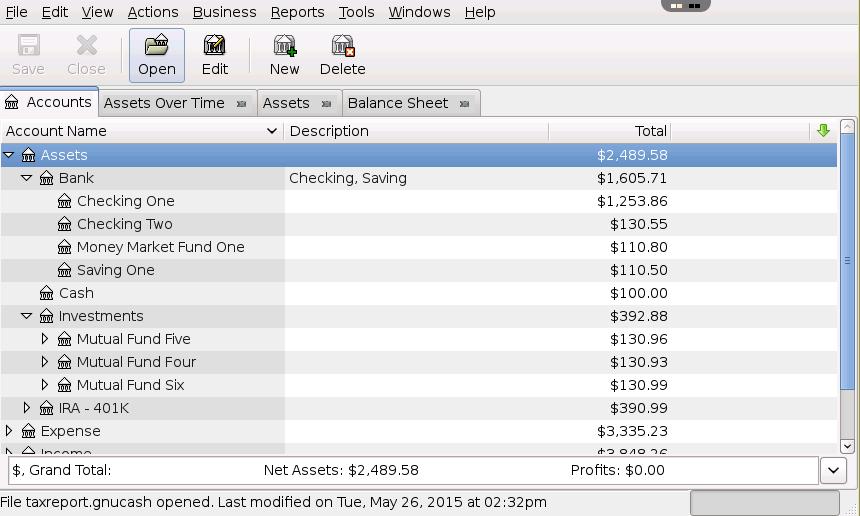 gnucash online personal budget management application