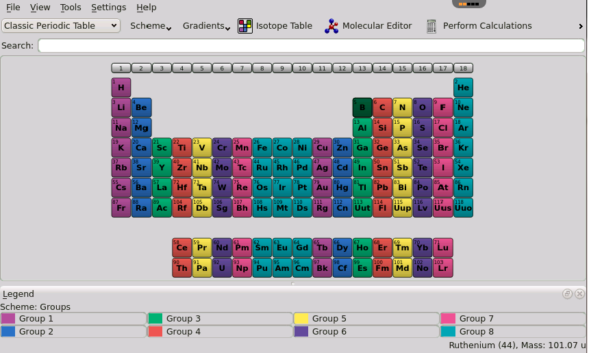 Kalzium chemistry application for chrome firefox safari rollapp screenshots urtaz Gallery