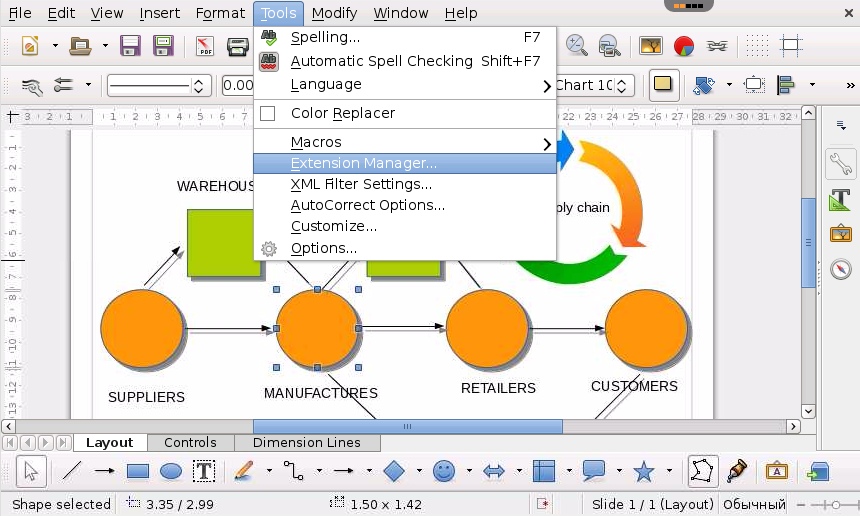 Libreoffice Draw A Flowchart Free Diagramming And Charting Tool