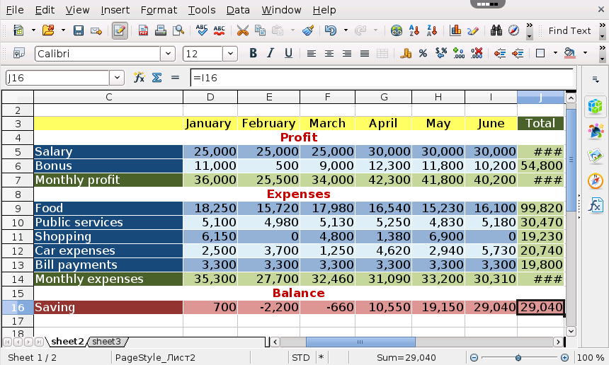 Openoffice Calc Free Spreadsheet App In The Cloud Rollapp