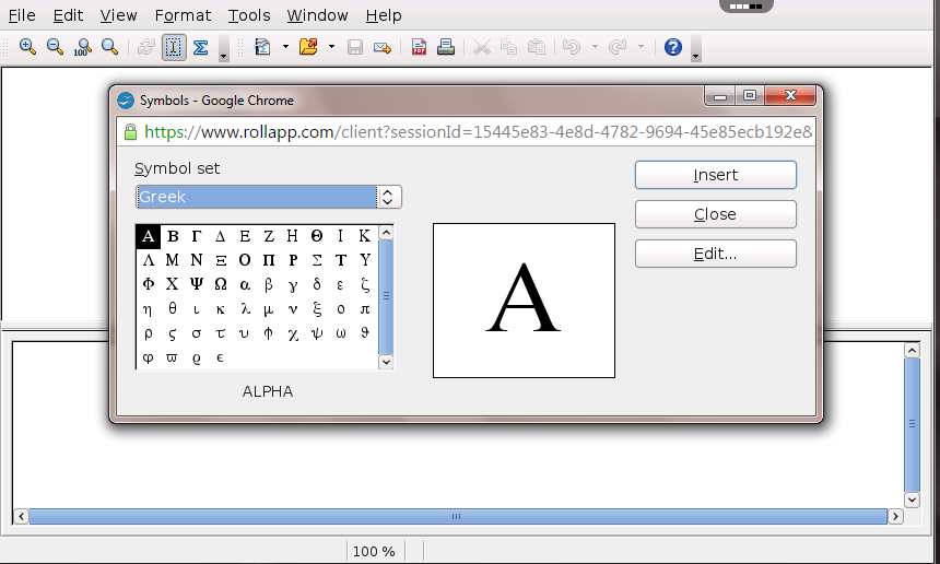 Openoffice math online free equation editor app in the cloud rollapp screenshots reheart Choice Image